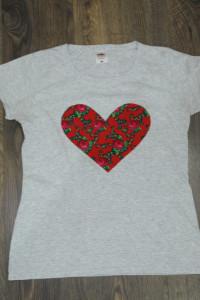 Tshirt z sercem folklor 38...