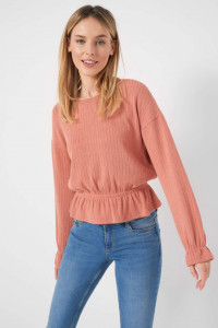 Nowa bluzka Orsay M 38 sweter brzoskwiniowo różowa ściągacz prążkowana