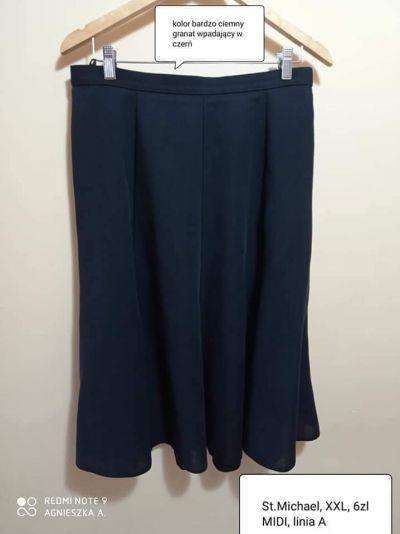 Spódnice Spódnica XXL midi elegancka wizytowa biurowa garniturowa linia A