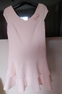 sukienka pudrowy róż 40 42