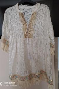 biała koronkowa tunika nowa xl xxl