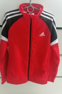Bluza adidas 10 lat 140 czerwona na zamek...