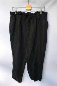 Spodnie Czarne H&M Lniane Len L 40 Długość 7 8 Eleganckie...