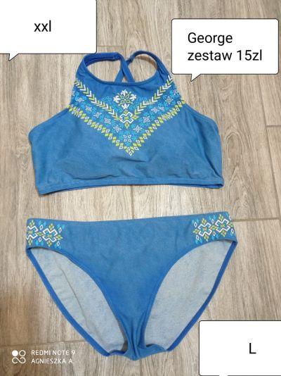 Stroje kąpielowe Kostium strój kąpielowy top stanik XXL majtki L