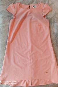 Sukienka asymetryczna litera A zamek...