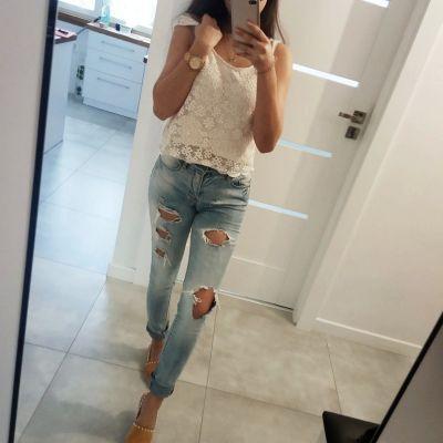 Spodnie Spodnie jeansy z rozdarciem ONLY