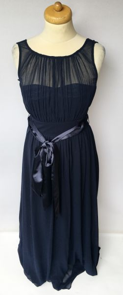 Suknie i sukienki Suknia Sukienka Granatowa NOWA S 36 Długa Maxi Wesele Showcase
