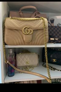 Gucci Marmont kamelowa beżowa torebka 27 cm...