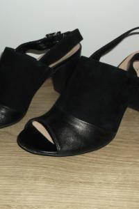 Czarne sandały Inez 37...