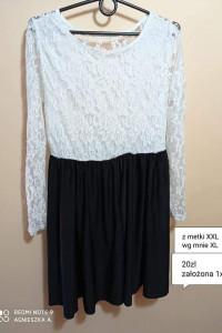Sukienka xl xxl koronka elegancka długi rękaw...