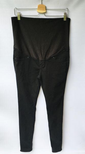 Spodnie Spodnie Rurki Tregginsy Granatowe H&M Mama XL 42