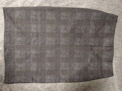 Spódnice Szara ołówkowa spódnica w kratkę S