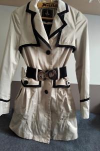 Beżowy płaszczyk rozkloszowany Lipsy London Limited XS S...