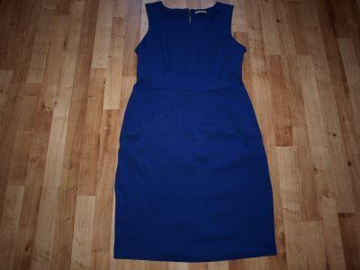 Suknie i sukienki Niebieska dzianinowa 42 44