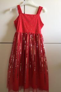 Elegancka sylwestrowa rozkloszowana cekinowa sukienka