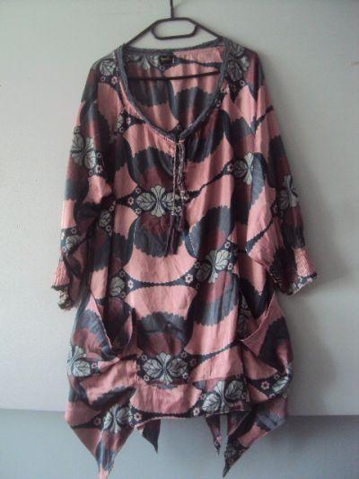 Tuniki oryginalna sukienka tunika z kieszeniami