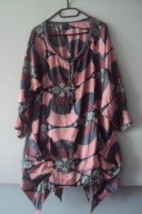 oryginalna sukienka tunika z kieszeniami...