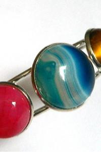Kolorowa bransoletka z kamieniami uniwersalny rozmiar...