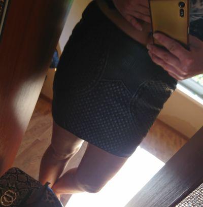 Spódnice Skórzana spodniczka h&m