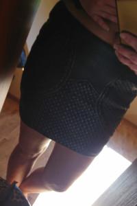 Skórzana spodniczka h&m...