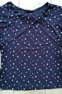 Granatowa bluzeczka w kropki Orsay M...