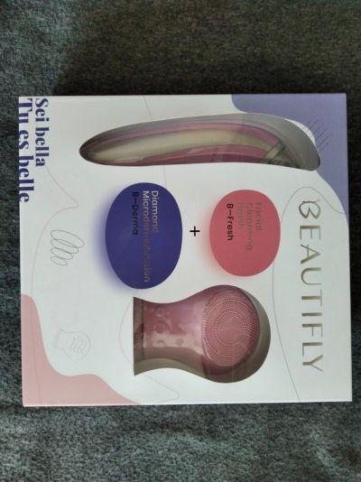 Akcesoria Beautyfly Bfresh Bderma różowy zestaw do oczyszczania twarzy