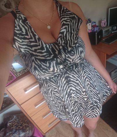 Suknie i sukienki Sukienka zebra gina tricot