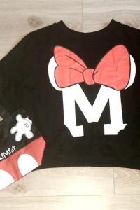Czarna bluza Disney myszka Minnie torebka myszka Mickey...
