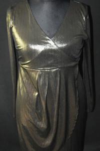 f Złota elastyczna sukienka New Look Maternity 42...