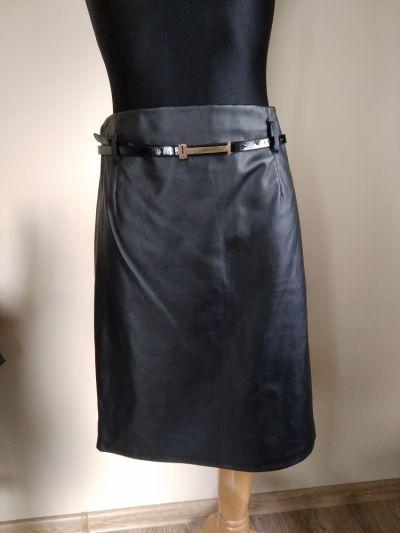 Spódnice Spódnica czarna z eko skóry XXL