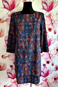 warehouse sukienka modny wzór melanż zip 40...