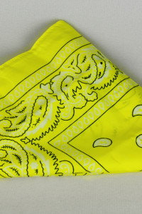 Żółta bandana neonowa cytrynka lata 90...