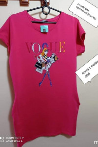 Sukienka uni dresowa Vogue pink...