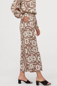 Spodnie H&M x Richard Allan rozm 42 kuloty print