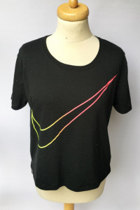 Bluzka Czarna Koszulka Nike S 36 Oversize T Shirt...