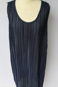 Sukienka Granatowa H&M Plisowana Plisa M 38 Prosta...