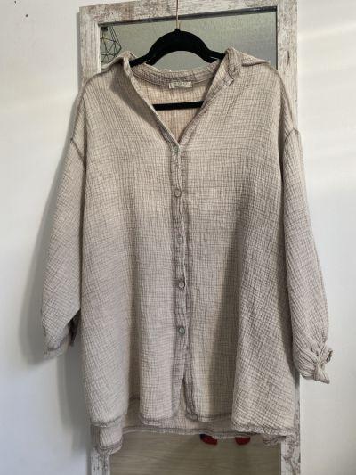 Koszule Koszula damska nowa bez metek beżowa kremowa