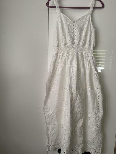 Suknie i sukienki Biała sukienka nowa S M