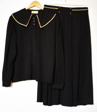 Garsonki i kostiumy LINDEX Kostium Bluza ze spódnicą wiskoza XXL elegancka