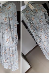 NOWA sukienka midi M maxi Mango zara plisy Wiosna 2021 błękitna...