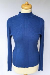 Sweter Kobaltowy H&M L 40 Niebieski Prążkowany Sweterek...