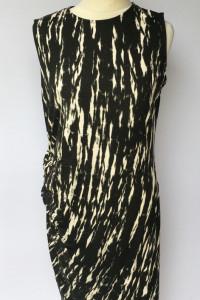 Sukienka Wzory Lindex L 40 Long Czarna Prosta Marszczona...