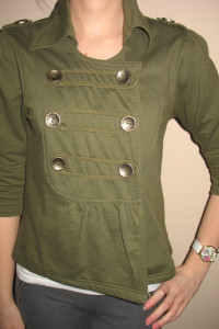 Zielona dresowa narzutka bluza XS 34 S 36...