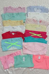 Paczka zestaw koszulek na lato dla dziewczynki74