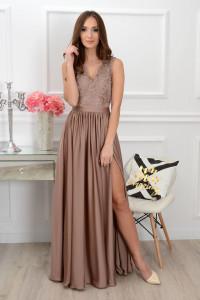 Suknia zlota z góra z gipiury rozmiar 34...