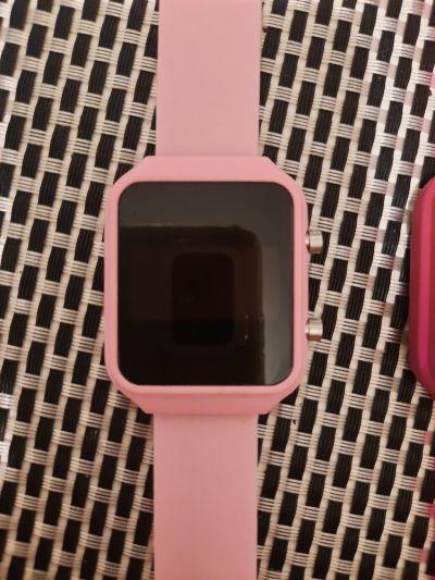 Zegarki Zegarek LED silikon jasny róż