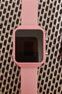 Zegarek LED silikon jasny róż