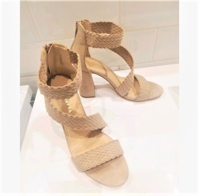Sandały Piękne sandałki a słupku nude must have lata