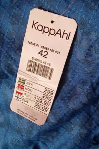 Nowa bluzka kopertowa przekładana kimono wiązana XL 42 panterka centki