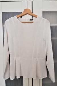 Biała bluzka z baskinką Gina Tricot elegancka...